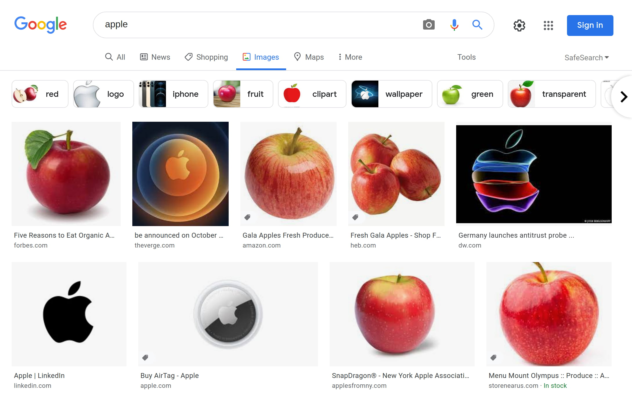 """Images Results for """"Apple"""""""
