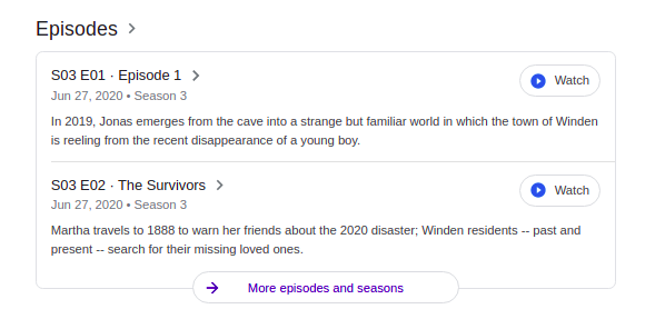 Results for: Episodes