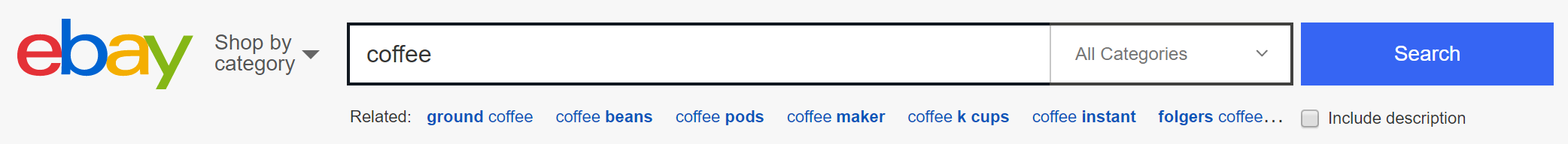 "Related searches for ""Coffee"""