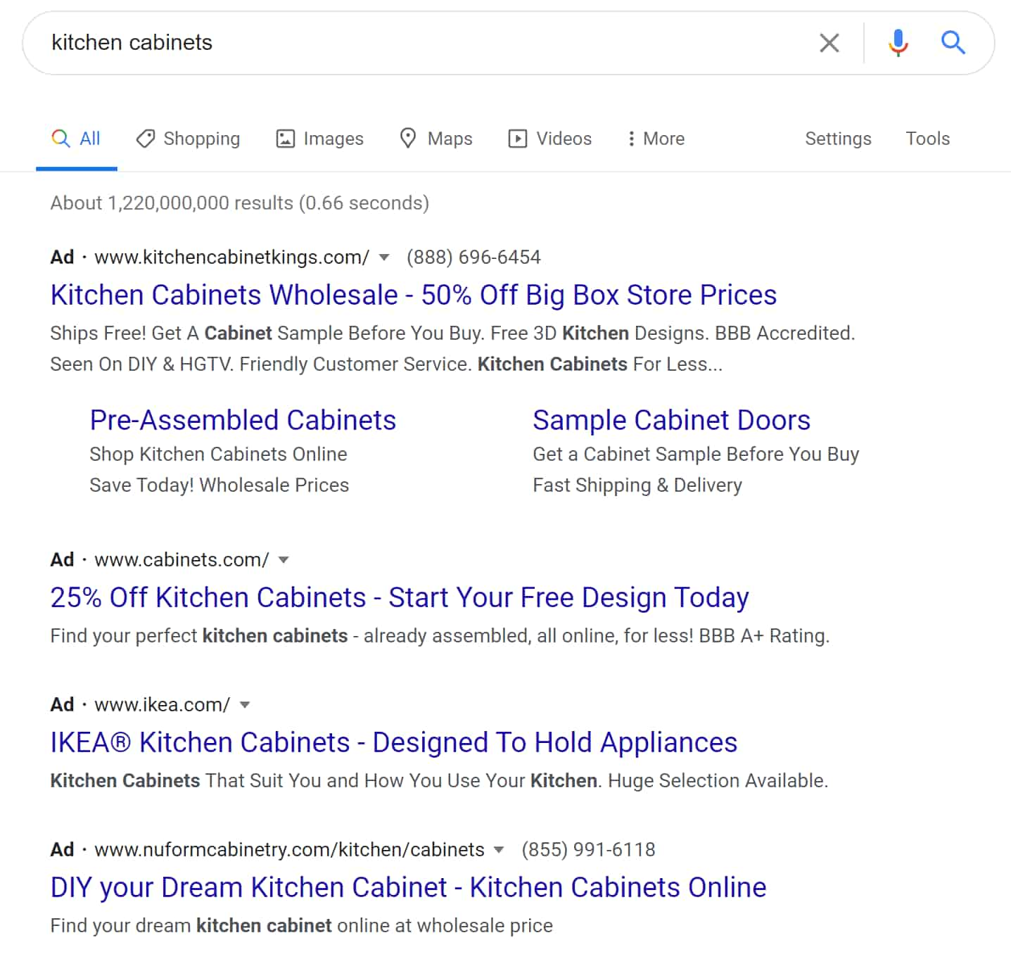 "Top Ad results for ""kitchen cabinets"""