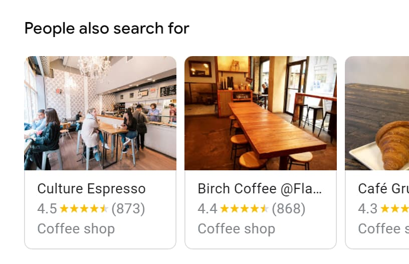 """People Also Search For"" for place results"