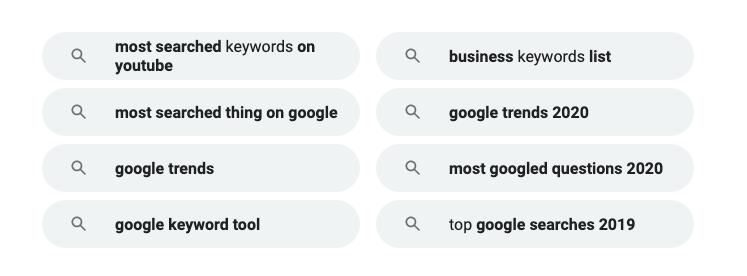Google Related Searches API - SerpApi